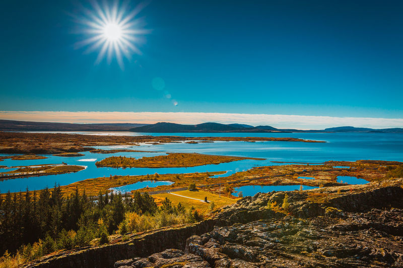 Astronomy Beach Beauty In Nature Blue Clear Sky Day Horizon Over Water Iceland Landscape Moon Nature No People Outdoors Reflection Scenics Sea Sky Sun Tranquil Scene Tranquility Water