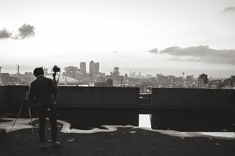 Photographer Photographing City