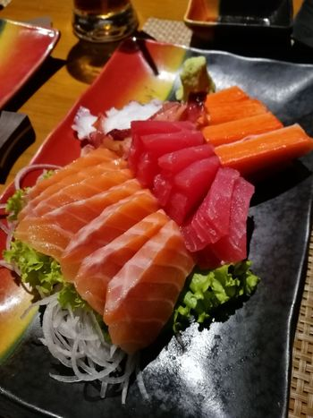 Sashimi  Seafood Indoors  Freshness Food And Drink Sushi Ready-to-eat Caviar Healthy Eating No People Variation Plate Food Cultures Close-up Day