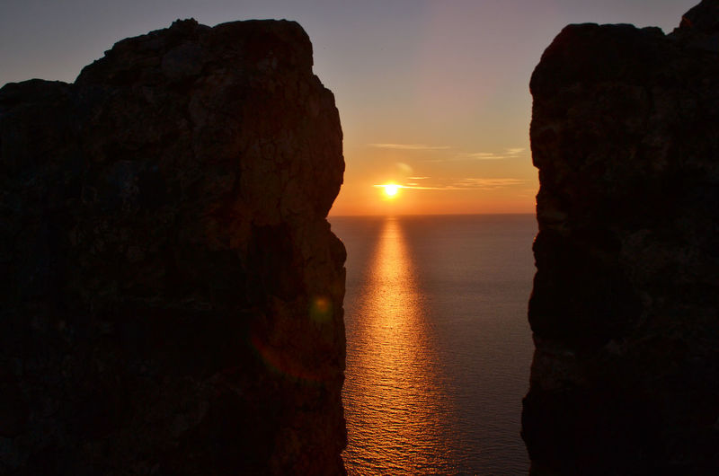Cliff By Sea At Sunset