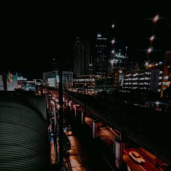 City lights Busy Busy Street Philippines Mandaluyong Train Train Tracks Architecture Archi Night Illuminated Architecture City Nightlife No People Outdoors Building Exterior Sky Cityscape