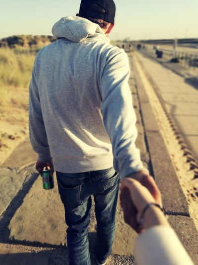 Rear View Walking Standing Men Focus On Foreground Casual Clothing Outdoors Person Day Solitude Keep My Hand Love ♥ Lovers Don't Go
