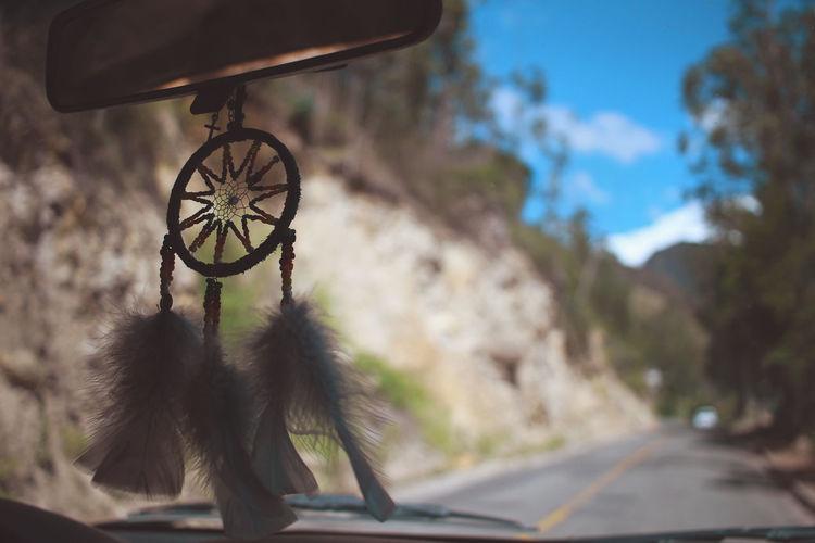 Road seen through car