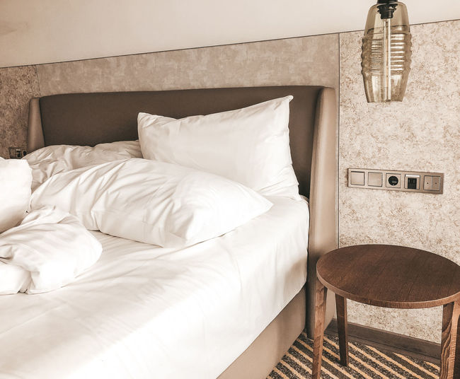 Hotel room Bed Furniture Domestic Room Pillow Bedroom Comfortable Indoors  Absence No People Home Interior Home Sheet Stuffed Luxury Wealth Home Showcase Interior Cushion Linen Building Textile Modern Cozy Hotel