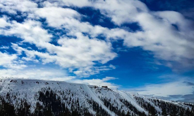 Snowy mountains Mountains Snow ❄ Skiing Snow Mountain View Skyporn Sky