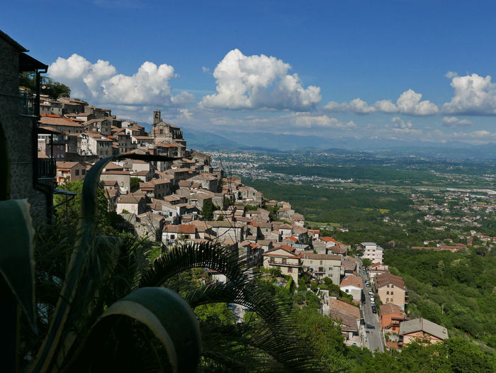 Scenic view of the characteristic village of patrica in italy