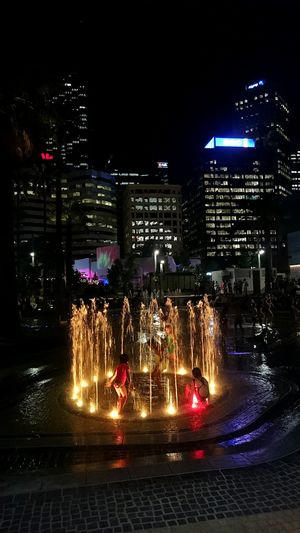 Adventuring at the new Elizabeth Quay water park Water Kids Playing Night Lights Perth City Elizabethquay Showcase: February