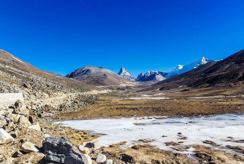 North Sikkim Northeastindia Lachungdiaries Zero Point Yumthang Valley Paradise On Earth EyeEm Best Shots EyeEm Gallery EyeEm Nature Lover EyeEm Selects Snow Mountain Blue Sand Outdoors Mountain Range Nature Cold Temperature Landscape Clear Sky No People Beauty In Nature Sky Day