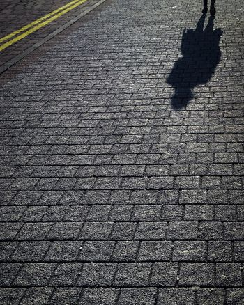 Shadows Shadow Street Textured  Outdoors Day No People Low Section Shadows & Lights Walking Pavement Streetphotography Street Photography Wide Angle Yellow Line The Week On EyeEm
