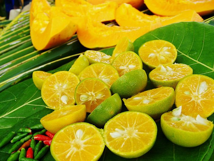 Lime Chili  Pepper Mango Leaf Food Topical Spicy Tasty