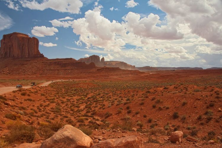 Beautiful monument valley Sky Cloud - Sky Scenics - Nature Tranquil Scene Landscape Beauty In Nature Environment Tranquility Rock Desert Non-urban Scene Rock Formation Mountain Physical Geography Rock - Object Land Remote Arid Climate Solid Nature Climate No People Mountain Range Formation Outdoors