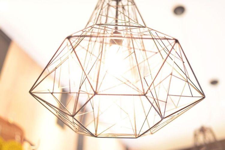 Light Fixture Design Decoration Decor Geometric Shapes Style Funky