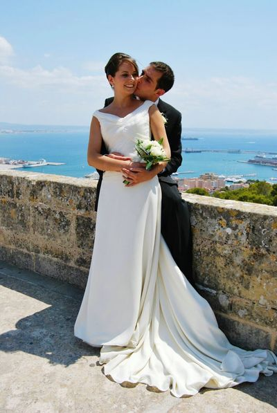 Wedding Two People Bridegroom Love Togetherness Bride Married Beach Wedding Dress Husband Wife Sea Newlywed Civil Partnership Men Couple Bonding Adult Adults Only Outdoors