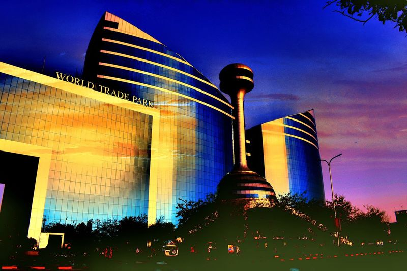 World Trade Park ,Jaipur Night Low Angle View Sky No People Architecture Multi Colored Blue Outdoors Illuminated Building Exterior Nature Astronomy