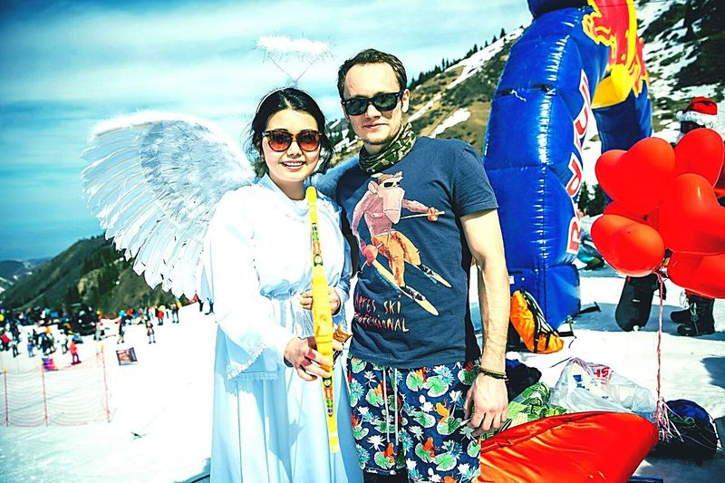 Red Bull Jump and Freeze2015 Sport RedBull Angel Friends Mountains Extreme Winter Snowboarding Snow ❄