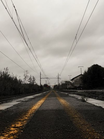 The Way Forward Sky Electricity  Power Line  Road Connection Railroad Track Cable Transportation Outdoors