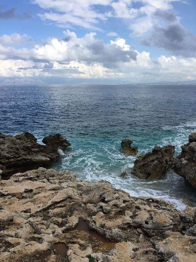 No Filter No People Coastline Coast Coastal Ocean View Sicily Lava Lava Beach Beachphotography Sizilien Sizilia Vacation Blue Sky Blue Waves Sky Clouds Clouds And Sky Cloudscape Water Sea And Sky Seaside Seascape Ocean