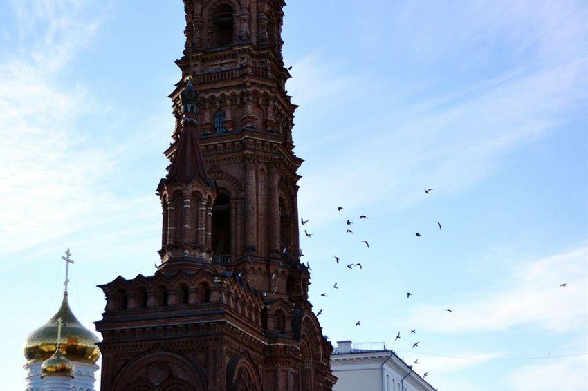 Kazan казань Birds башня Mistery Sky Old Buildings Россия Russia Russian Girl