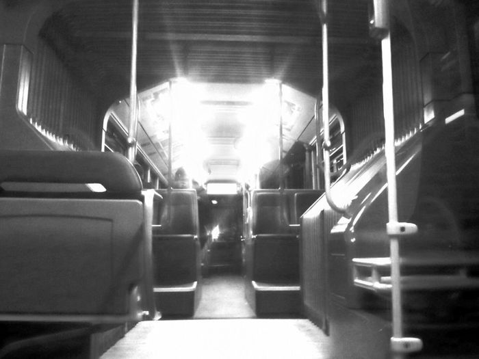 Public Transportation Driving Home Monochrome Stairs