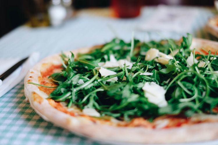 Temptation Close-up Day Dieting Food Food And Drink Freshness Healthy Eating Healthy Lifestyle Indoors  Italian Food Italy No People Pizza Ready-to-eat Rucola Table Unhealthy Eating