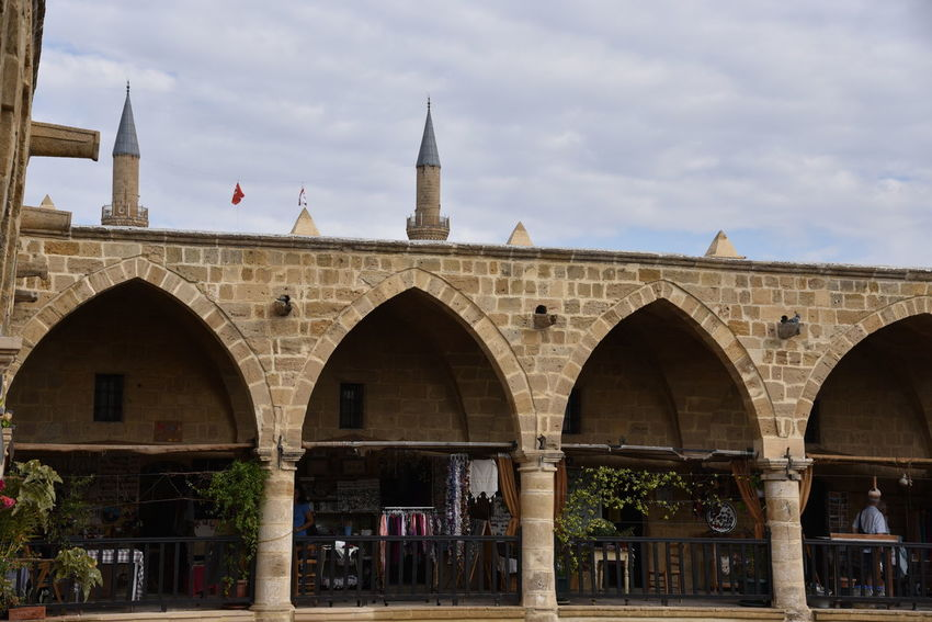 Cyprus Nikosia Arch Architecture Bridge - Man Made Structure Building Exterior Built Structure Day Karawanserei Minaret Minarets No People Outdoors Sky Zypern