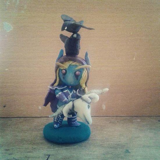 ayan independent ka na hahaha 😁 Sylvanaswindrunner Chibi Clay Worldofwarcraft Art ArtPh Artsy Toy Customtoy