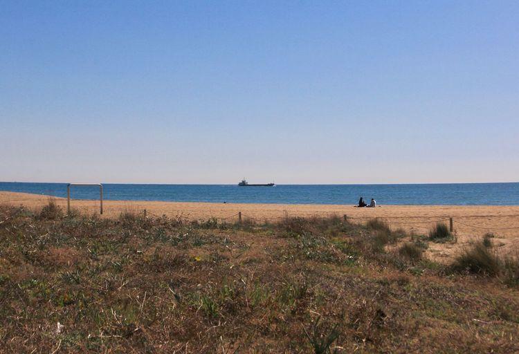 Incidental People Sea Sky Land Beach Horizon Over Water Scenics - Nature Tranquil Scene