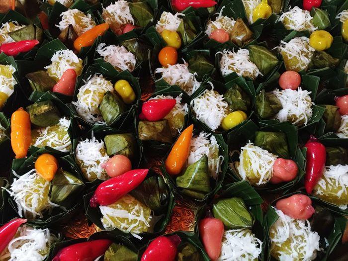 Full frame shot of colorful food