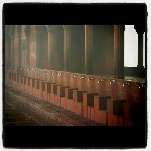 Wash station in a Mosque in Olddehli Dehli India . travel jj instagram