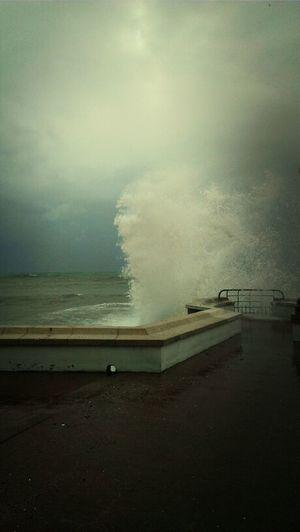 Hanging Out Sea Taking Photos Storm Mediterranean  Mediterraneo Sant Pol De Mar