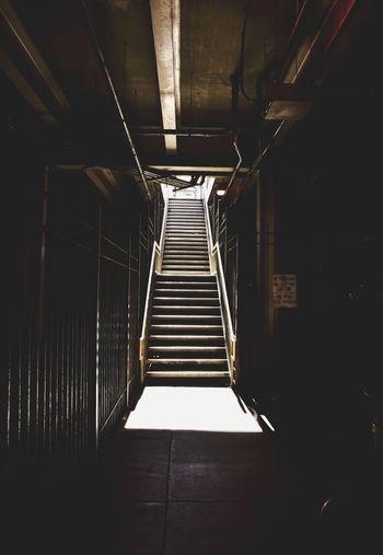 Stairs at underground walkway