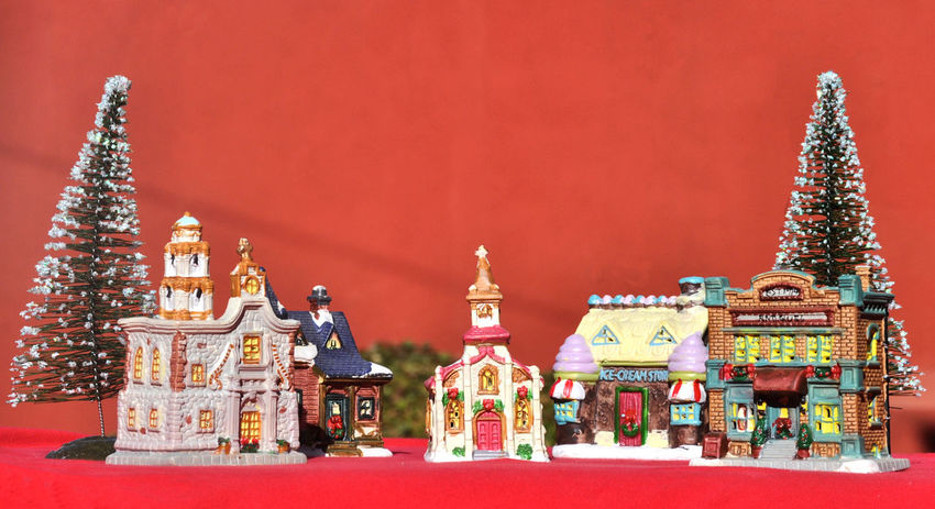 Merry Christmas! Christmas Town Christmas Trees Christmas Village Happy Holidays Architecture Christmas Decorations Day Indoors  Merry Christmas No People Place Of Worship Religion Sculpture Spirituality Statue Village