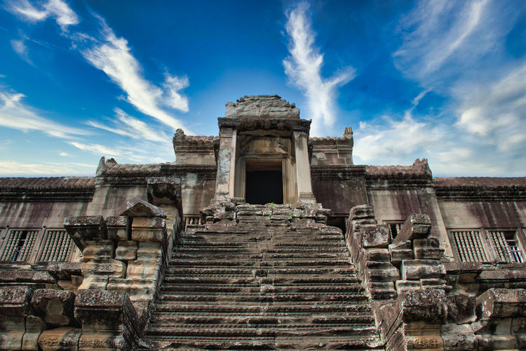 Angkor wat in siem reap,cambodia is the largest religious monument in the world