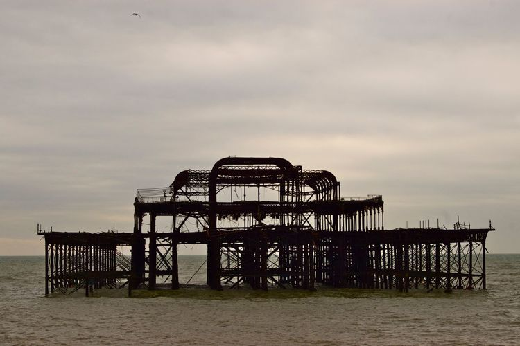 Old pier on sea