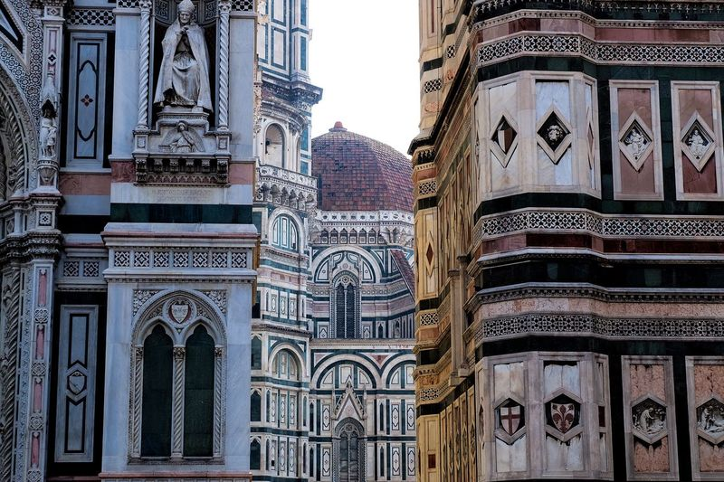 Low angle view of duomo santa maria del fiore