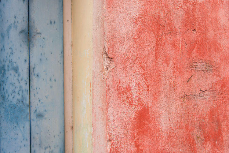 Paint Wall Wall - Building Feature Backgrounds Red Sky Close-up Weathered Bad Condition Damaged Run-down Deterioration Civilization
