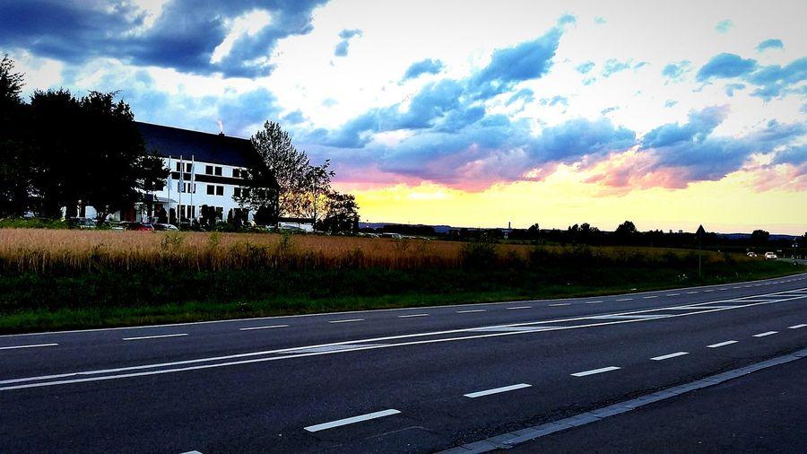 Sunset Landscape Cloud Field Scenics Road Neu-Ulm First Eyeem Photo