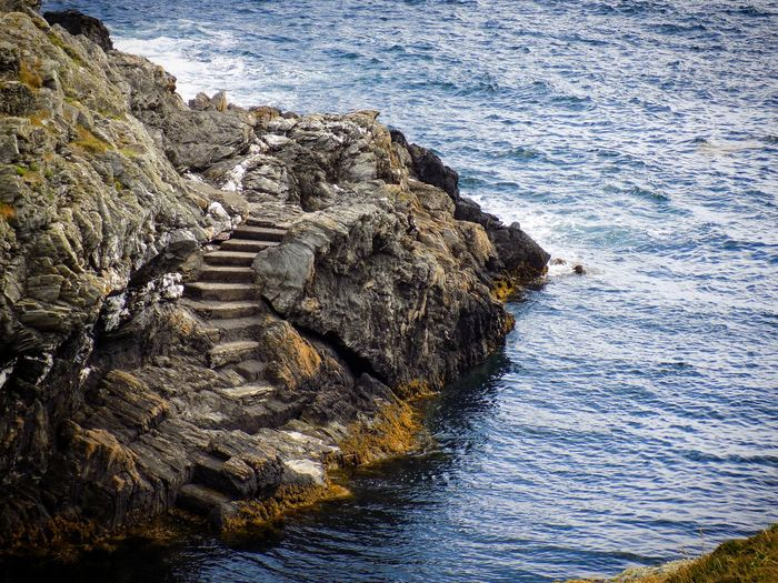 Stairway to adventure Sea Beach Water Shore No People Outdoors Scenics Beauty In Nature Coastal_collection EyeEm Best Shots Isle Of Man IOM Manx POTD Outdoor Photography Landscape_Collection Old Ruin