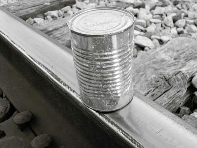 Railroad,can,no people,hobo Transportation Outdoors Bridge - Man Made Structure Metal No People Can Close-up Aluminum
