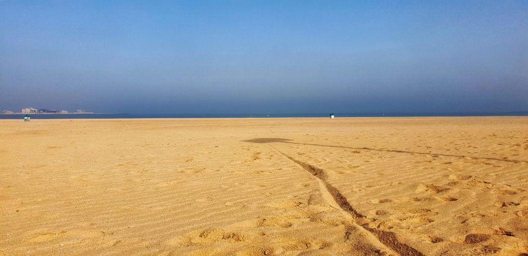 Sand Dune Water Sea Beach Desert Sand Blue Summer Clear Sky