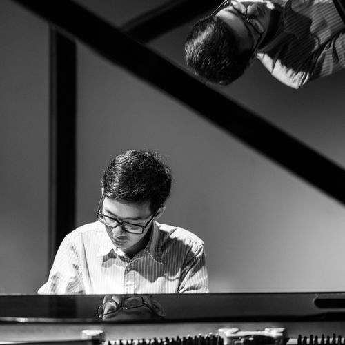 Playing Piano Asian  Black & White Black And White Black And White Photography Blackandwhite Concentration Consert Glasses Instrument Instruments Man Music Musician Piano Piano Time Playing Portrait Reflection Reflections Stage Stage - Performance Space TakeoverMusic Piano Moments