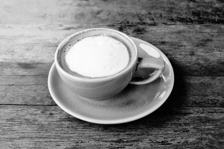 Coffee Black and white photo Aroma Hot Coffee Cup Black And White Cafe Cafe Drink Table High Angle View Coffee - Drink Coffee Cup Still Life Close-up Cappuccino Latte Foam Caffeine Coffee