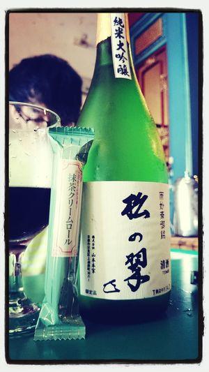 抹茶卷心酥+純米大吟釀 意外搭