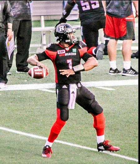 Took in a Canadian Football League game. (Gridiron) Ottawa Redblacks vs Toronto Argonauts. This is quarterback Henry Burris