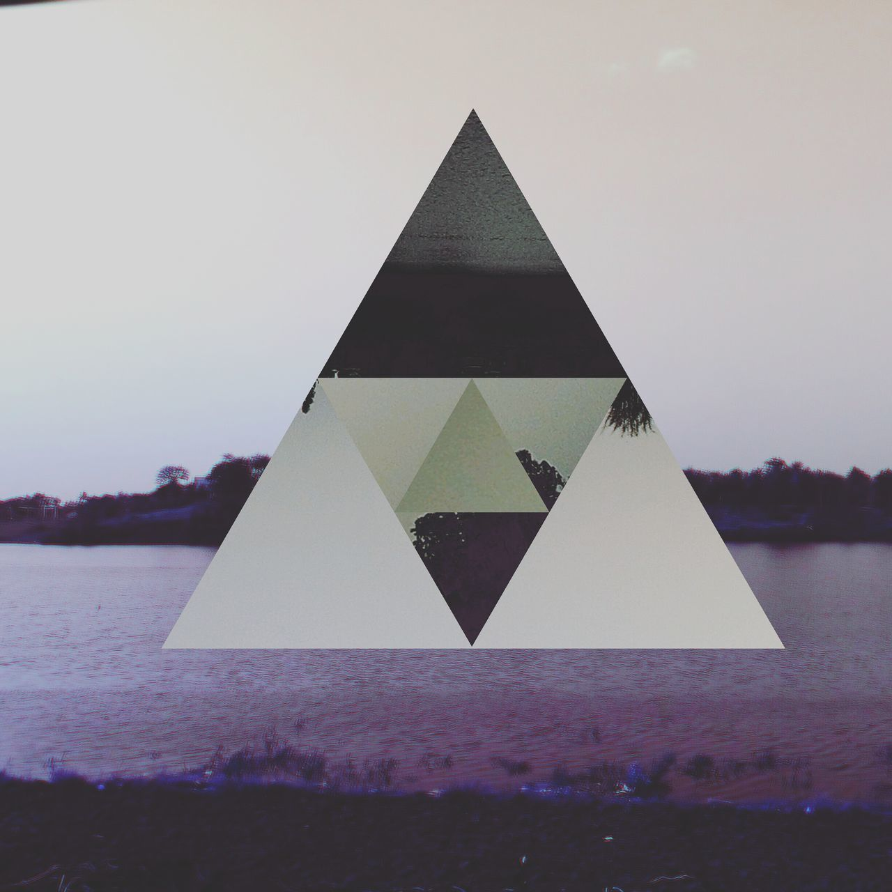 triangle shape, water, no people, outdoors, sky, nature, day, clear sky, close-up