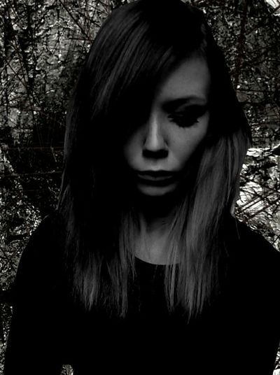 Teengirl Teen Girl Teenager Teenage Girls Spooky Females Human Face Young Adult Only Women Teenage Girl Beauty Young Women Black Background Portrait One Person Mystery Horror One Young Woman Only Women Adult Front View Close-up Teen Emo Girl