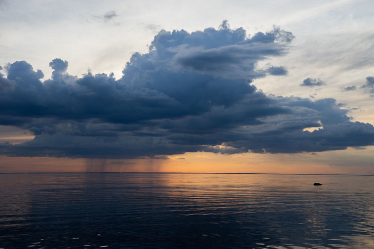Baltic Sea Beauty In Nature Cloud - Sky Evening Horizon Horizon Over Water Idyllic Nature No People Non-urban Scene Outdoors Remote Scenics - Nature Sea Seascape Sky Sunset Tranquil Scene Tranquility Water Waterfront