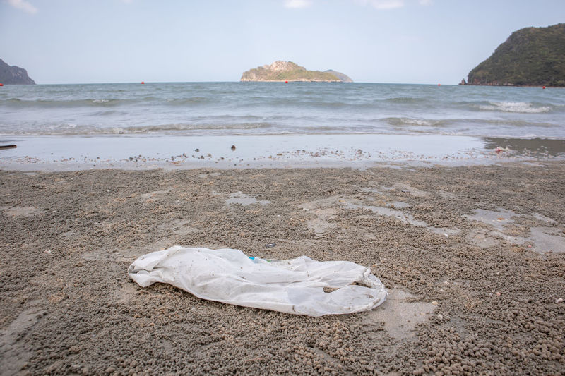Plastic bag on