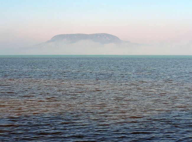 Lake Balaton Beauty In Nature Clear Sky Day Horizon Over Water Idyllic Landscape Mountain Nature No People Outdoors Scenics Sea Sky Sunset Tranquil Scene Tranquility Water Waterfront
