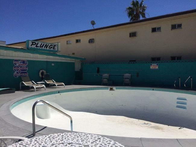 Las Vegas Pool Poolside Empty Abandoned Buildings Old Vegas 1970s 1960s Vintage